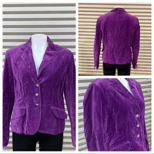 George purple velvet jacket size 14